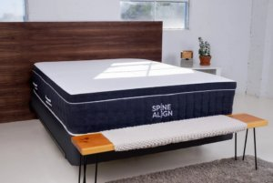 the spinealign mattress in a room