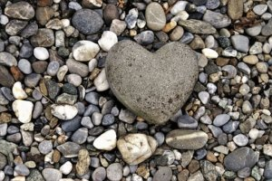 rock heart-shaped