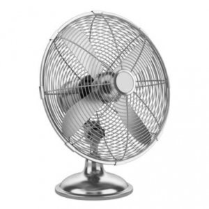 an elegant metal table fan