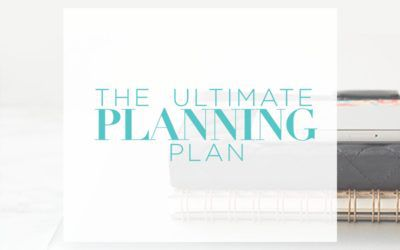 The Ultimate Planning Plan