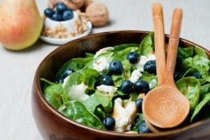 Blueberry Walnut Summer Salad