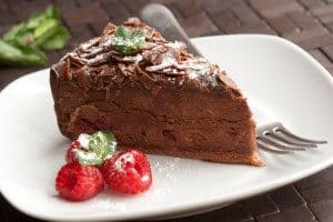 chocolate torte, dark chocolate, gluten-free