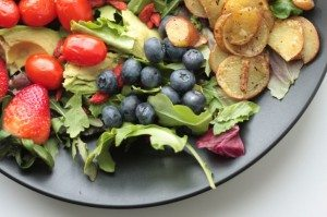 Summer Vegetables and Berries Salad