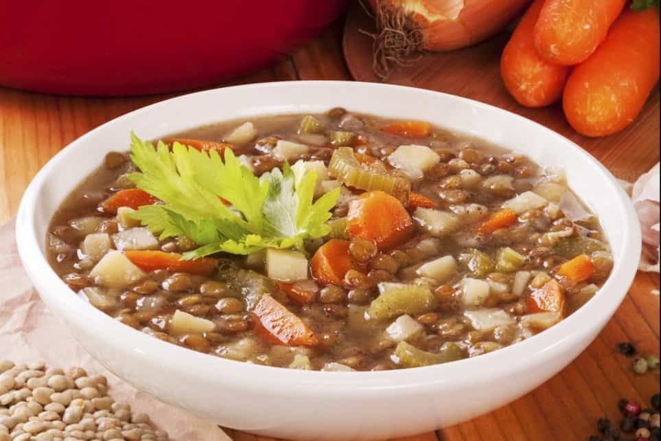 immune boosting, lentil, lentil soup, vegetables, flu season