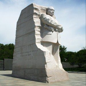 Full view of the Martin Luther King Memorial