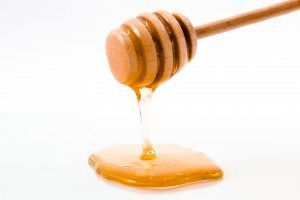 Honey drip isolated on white background