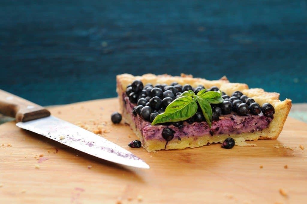 blueberry pie, blueberries