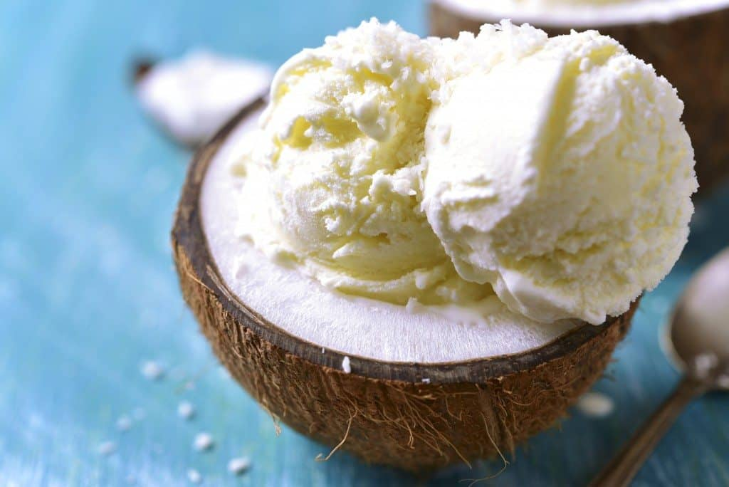 creamy, coconut milk, coconut ice cream