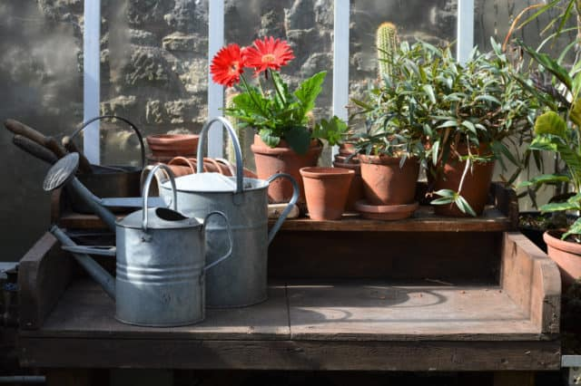 DIY potting benches, Mindful Gardening, Mindful Living Netowrk