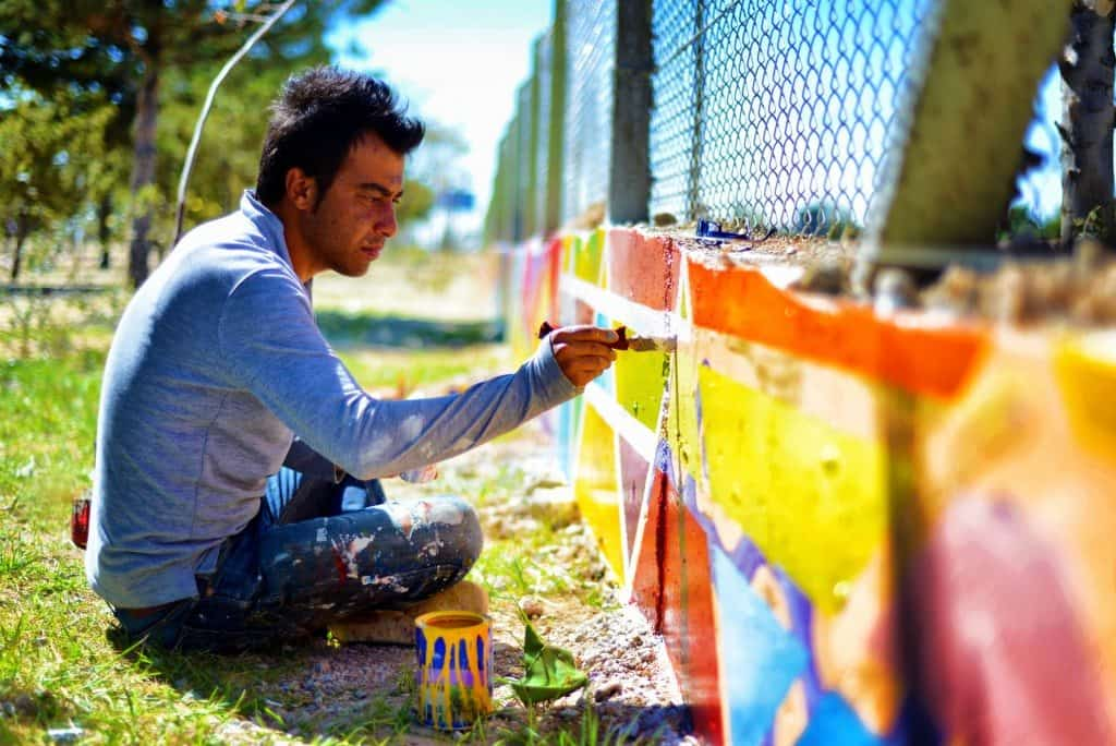 community mural, public art