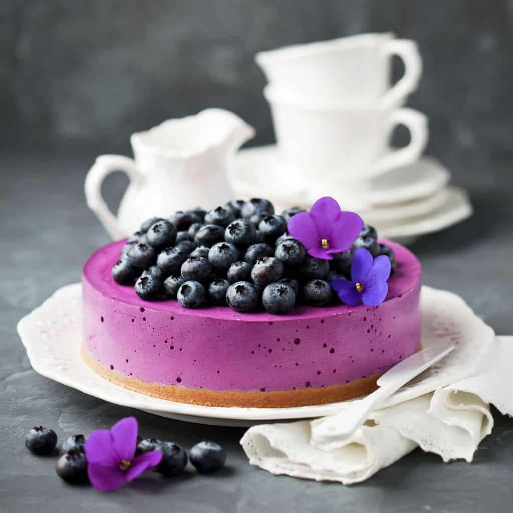 cheesecake, blueberry, no-bake, summer dessert