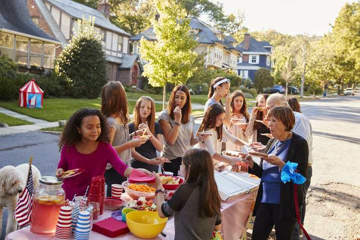 mindful neighborhood, block party ideas