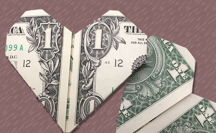 EASY Amazing Money FLOWER Origami out of two Dollar bills Tutorial ... | 510x825