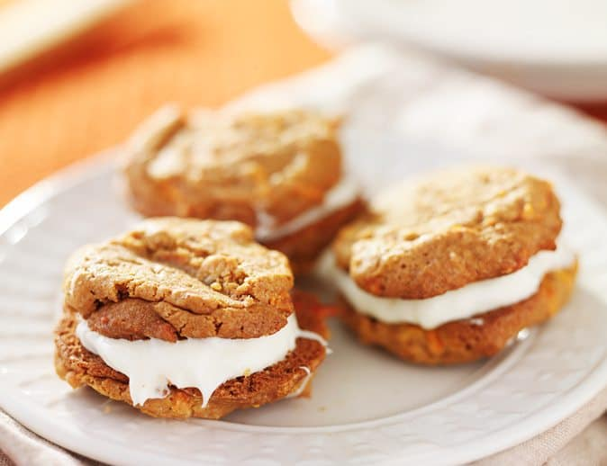 Easter Carrot Cake Cookie Sandwiches