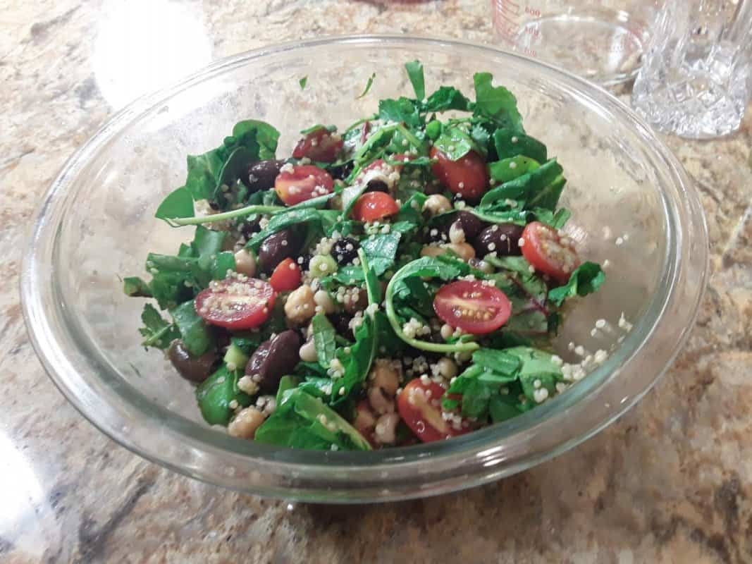 Black Eyed Pea Kale Salad Mindful Living Network