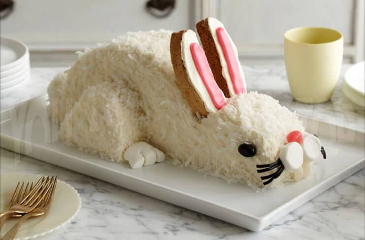 Adorable Easter Bunny Cake
