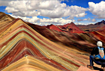 Rainbow Mountain in the Peruvian Andes Mountain Range