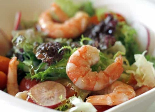Roasted Shrimp Salad with Poblanos