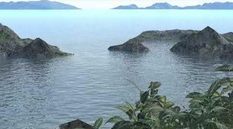 Peaceful Blue Lagoon