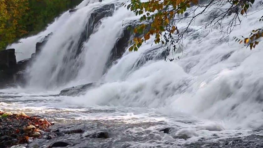 Powerful Mountain Waterfall