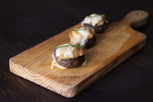Stuffed Mushrooms with Crab and Artichoke