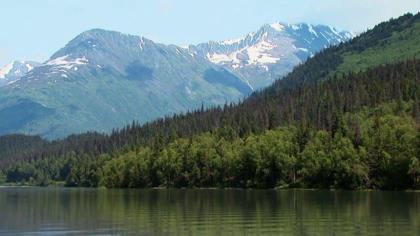 Tranquil Lake in Alaska