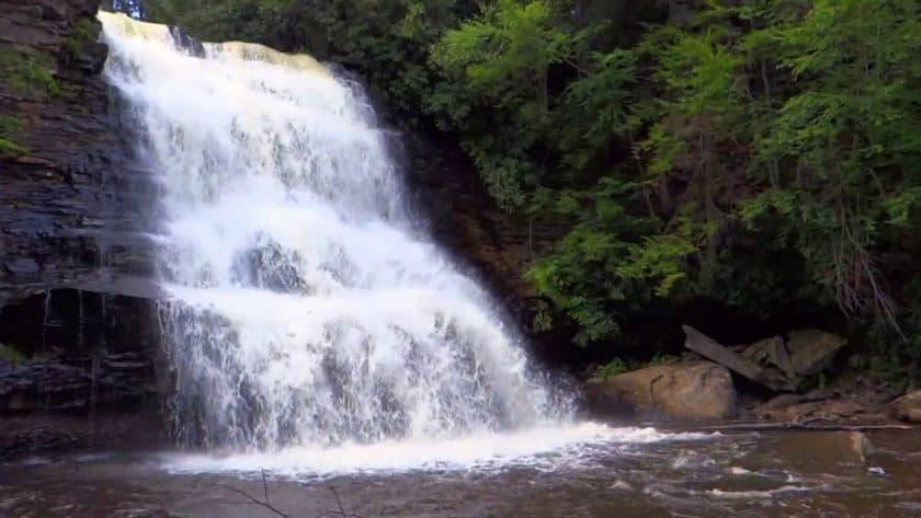 Rejuvenating Mountain Waterfall