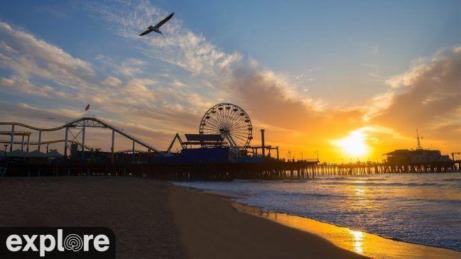 Live View of Santa Monica Beach and Pier