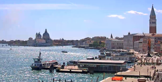 Live View of St. Mark's Basin, Venice Italy