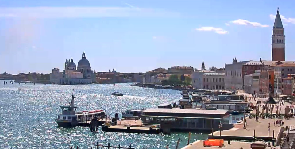 Live View of St. Mark's Basin, Venice Italy