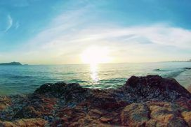 Watch an Amazing Sunset in 360° from Beach in Thailand