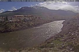 Live View of Gardiner River in Yellowstone National Park