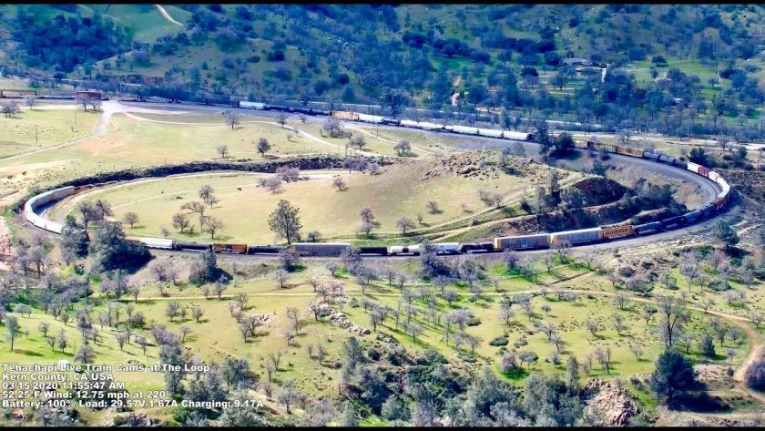 Trains at the Tehachapi Loop