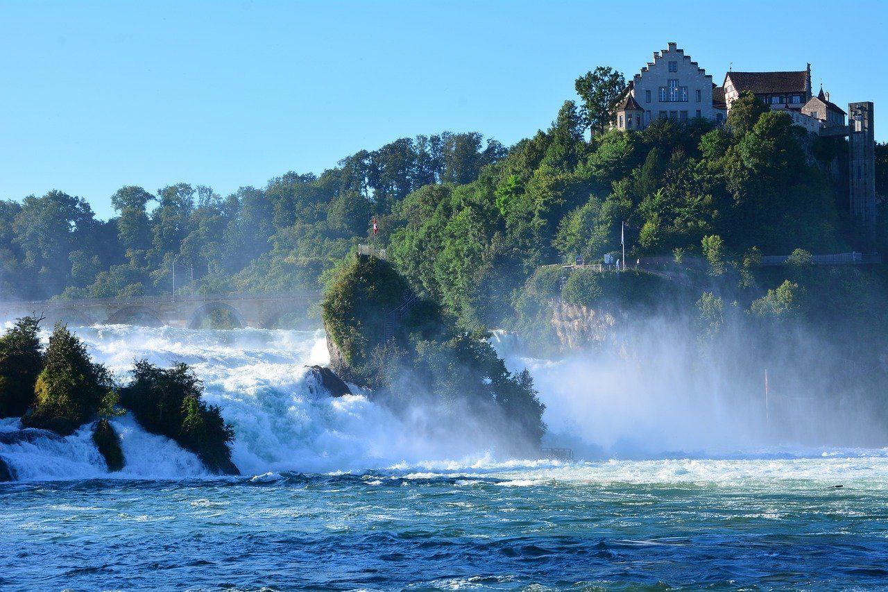 Rhine Falls in the Swiss Alps