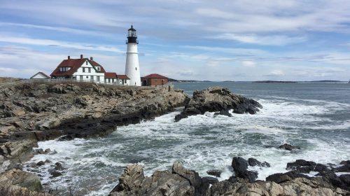 'See the Sunset': Portland Head Light Lighthouse, Casco Bay