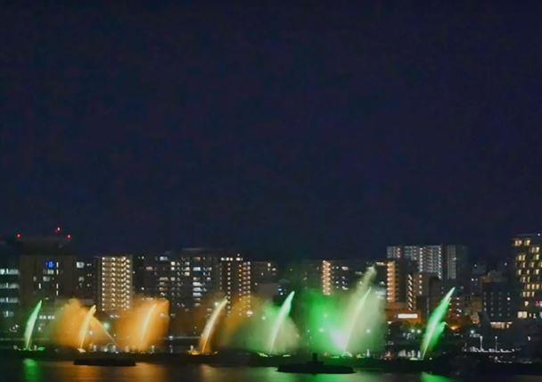 Japan's Lake Biwa Flower Fountain