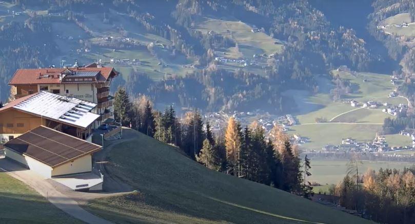 Amazing, Panoramic Aerial View of Alps in Austria