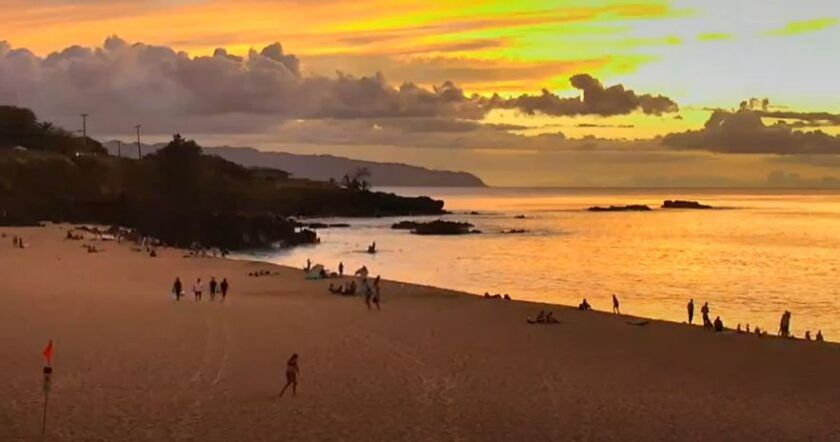 Relax in Hawaii's Waimea Bay