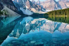 crystal clear mountain lake
