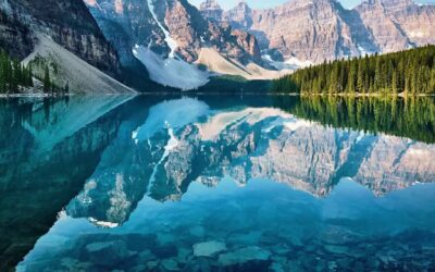 crystal clear mountain lake