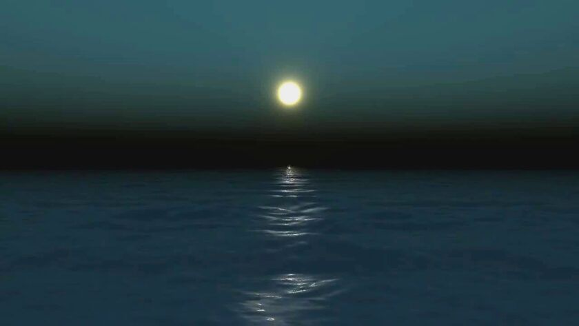Bright Moon Over Water