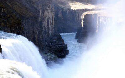 powerful icelandic waterfall