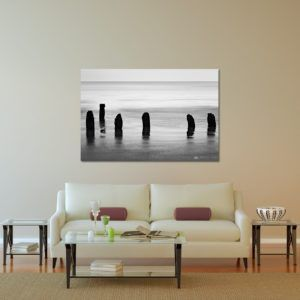Wall Art Print Display─Inside a Room with a Couch─of the Photograph Broken Fences by Fine Art Nature and Landscape Photographer Minhajul Haque