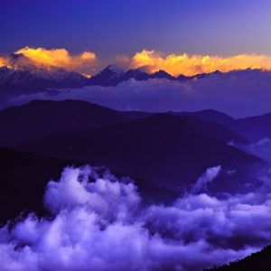 Cloudy Kangchenjunga - Limited Edition Landscape Photography Artwork of the Mount Kangchenjunga After Sunrise on Canvas and Matte Paper by Minhajul Haque