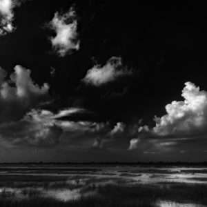 Greeted by Clouds - Classic Black and White Landscape Photograph in Limited Edition Prints on Canvas and Matte Paper by Minhajul Haque