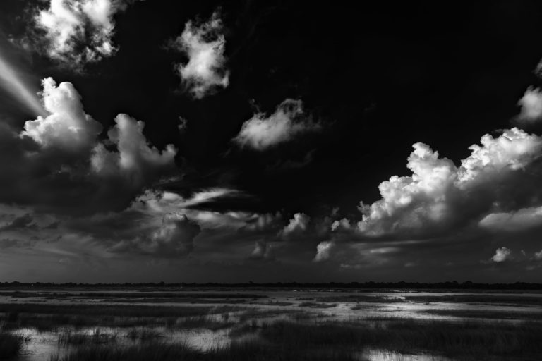 Greeted by Clouds – Classic Black and White Landscape Photograph in Limited Edition Prints (Canvas/Matte Papers)