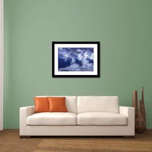 Wall Art Print Display─Inside a Room with a Couch─of the Photograph Mosaicked Ripples by Fine Art Nature and Landscape Photographer Minhajul Haque