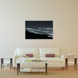 Silvery Sea Shore - Limited Edition Artwork by Minhajul Haque. A Photography Print Made with Love and Passion to Make You Feel Special and Serene. Here in This Image, It Is an Interior Scene with the Wall Art Print. Buy Limited Edition Pigment Prints of Artistic Nature and Landscape Photos for Your Home and Office Interiors. Bedroom Wall Art, Dining Room Wall Art, Living Room Wall Art, Kitchen Wall Art, Bathroom Wall Art, Kid's Room Wall Art, Office Wall Art, and Sitting Room Wall Art for Sale Online in India