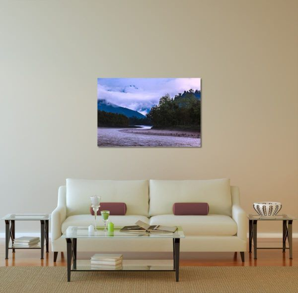 Misty Subansiri - Limited Edition Artwork by Minhajul Haque. A Photography Print Made with Love and Passion to Make You Feel Special and Serene. Here in This Image, It Is an Interior Scene with the Wall Art Print. Buy Limited Edition Pigment Prints of Artistic Nature and Landscape Photos for Your Home and Office Interiors. Bedroom Wall Art, Dining Room Wall Art, Living Room Wall Art, Kitchen Wall Art, Bathroom Wall Art, Kid's Room Wall Art, Office Wall Art, and Sitting Room Wall Art for Sale Online in India