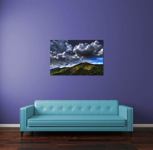Light on Mountains - Limited Edition Artwork by Minhajul Haque. A Photography Print Made with Love and Passion to Make You Feel Special and Serene. Here in This Image, It Is an Interior Scene with the Wall Art Print. Buy Limited Edition Pigment Prints of Artistic Nature and Landscape Photos for Your Home and Office Interiors. Bedroom Wall Art, Dining Room Wall Art, Living Room Wall Art, Kitchen Wall Art, Bathroom Wall Art, Kid's Room Wall Art, Office Wall Art, and Sitting Room Wall Art for Sale Online in India